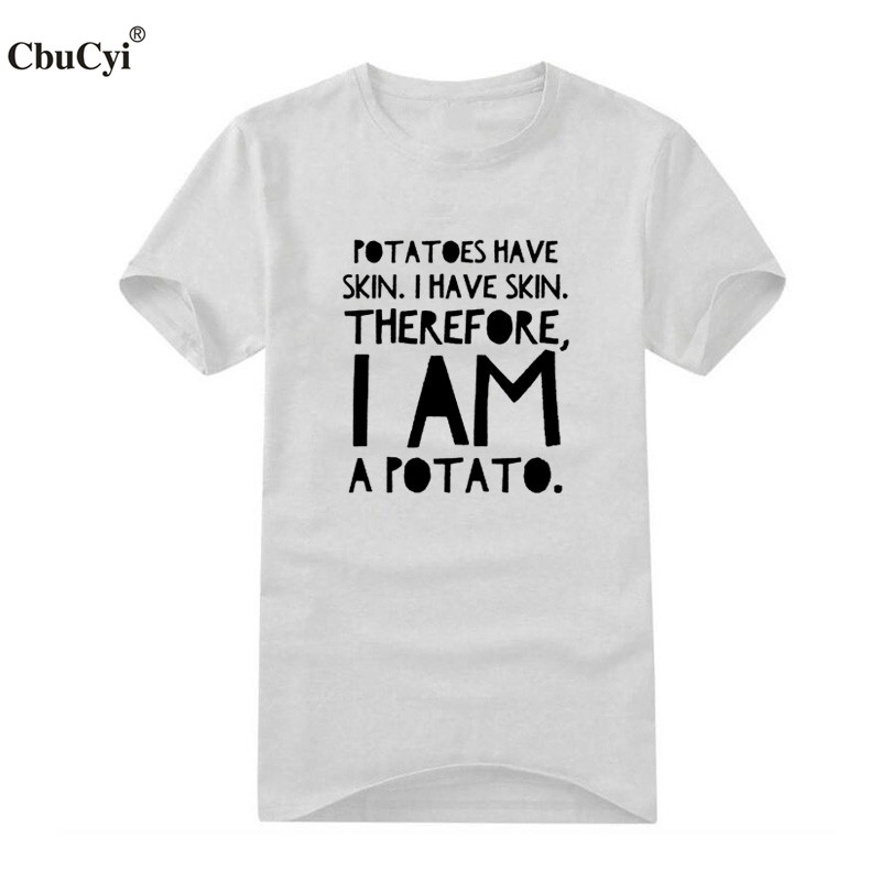 5e666aa2c Fashion Men t shirt I Am A Potato Funny Saying Letters printed t shirt Size  S XXL tee shirt homme camisa masculina-in T-Shirts from Men's Clothing on  ...