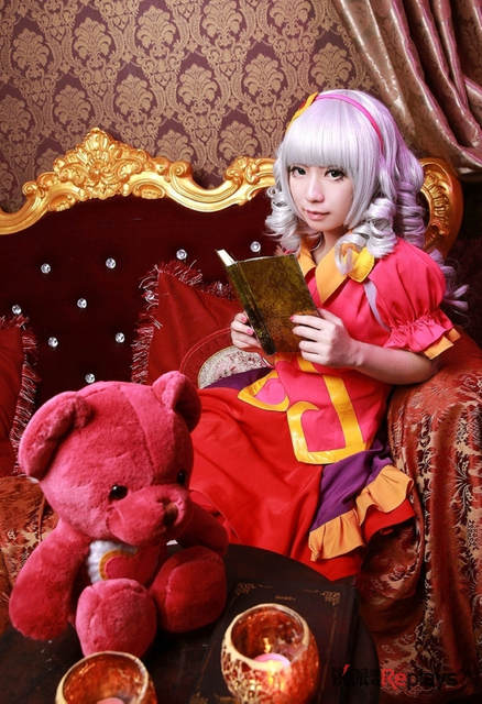 5e9a5525dada2 US $127.16 11% OFF LOL Annie Sweety Baby Valentine Uniforms Cosplay Costume  Free Shipping + Wig + Bear +Shoes-in Dresses from Women's Clothing on ...
