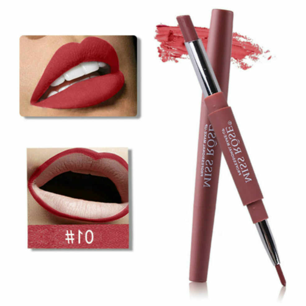 11.11 NEW Elegant Woman Lip Liner Makeup Lipstick Waterproof Long Lasting Tint Sexy Red Lip Stick Beauty Matte Liner Lipstick