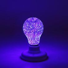 Светодиодный светильник лампы E27 3D фейерверк декоративные лампы Эдисона 195-240V вечерние лампа A60 ST64 G80 G95 G125 праздничный новогодний декор