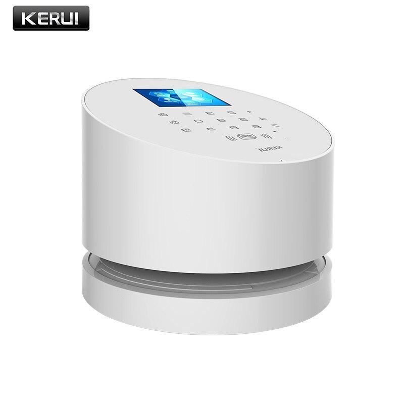 KERUI W2 WiFi GSM accueil cambrioleur de sécurité système d'alarme IOS Android APP contrôle compatible avec IP caméra PIR détecteur de porte capteur