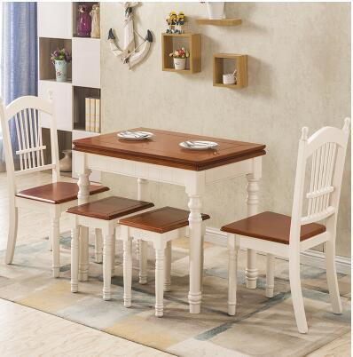 Folding table. American retractable pull table. Home table 1