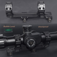 WIPSON Tactical Gun AR15 Rifle Optic Scope Mount 25 4mm 30mm QD Rings Mount With Bubble
