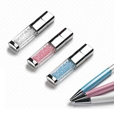 Smycken Usb Flash Drive 2tb 128gb 16gb 32gb Pen Drive 1tb Metal Mini Vattentät Pendrive Crystal Present Gadget Usb Memeory Stick
