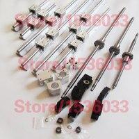 3 kurşun vidalar ballscrews + 3 takım SBR lineer kılavuz ray + 3 BK12 BF12 + kaplinler