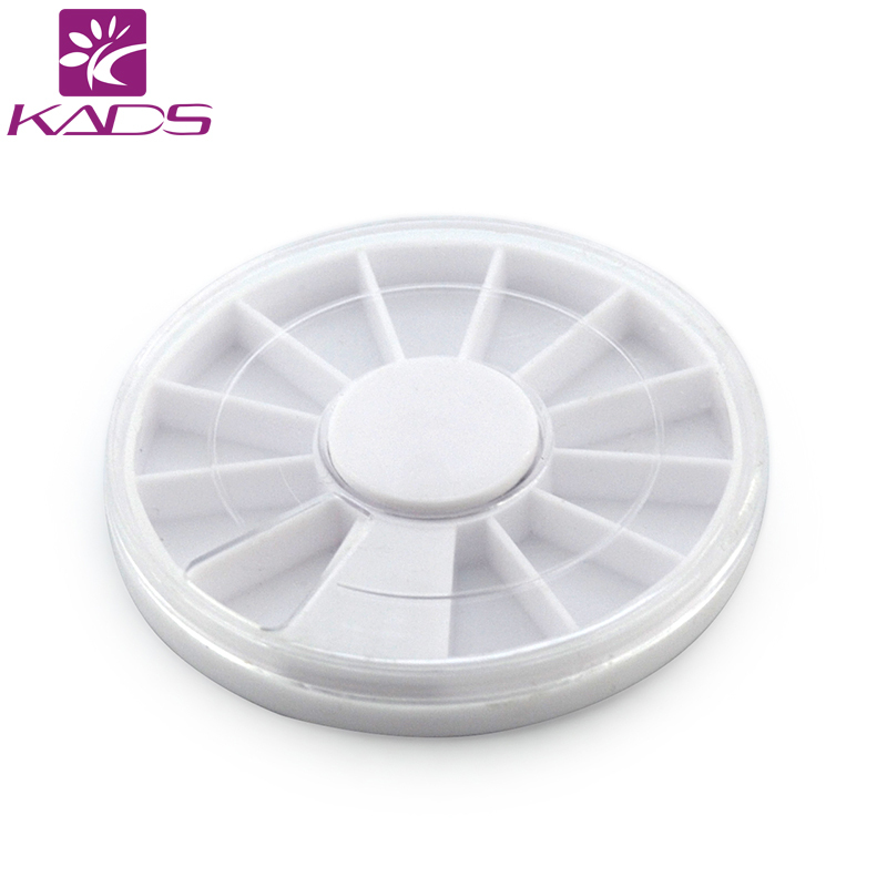 Фото KADS HOTSALE 50pcs/lot Nail Art Empty Round Wheel Jewelry box Pill Nail Art Drug Storage Ring Case Box Free Shipping