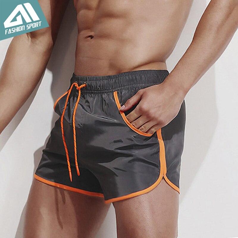 Aimpact pantalones cortos de hombres de secado rápido 2018 vacaciones de verano de playa de Surf bolsillo baño deporte híbrido pantalones cortos AM2049