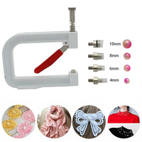 Nailed Bead Machine Clothing Manual Pearl Cap Rivet Craft DIY Repair Knit Tool E2S