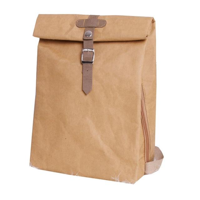 Tasarımcı Yıkanabilir Kraft Kağıt Kadın Sırt Çantası Kadın okul çantası yüksek kaliteli sırt çantası Hafif Çok Amaçlı Iş Bilgisayar Çantası