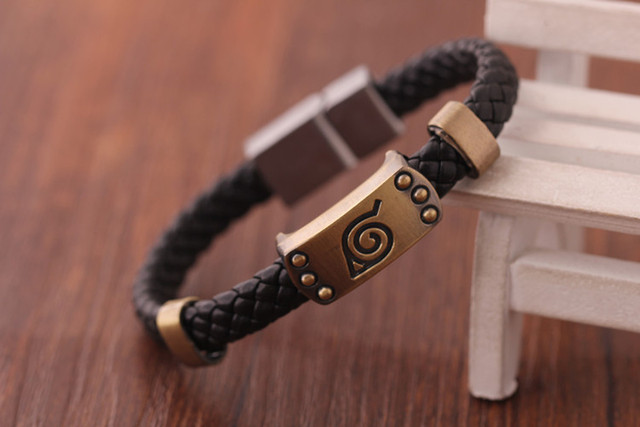 Anime Naruto Knit Bracelet Cosplay Costumes Accessories Props Black Punk Fashion Bracelets