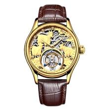 Original Brand Sanyang Kaitai Seagull Tourbillon 3D Emboss Manual Mechanical Watch Mens Hollow Waterproof Watches