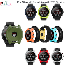 Colorful Soft Cases Cover Protective Frame Shell for Xiaomi Huami Amazfit 2/2S Stratos Watch Replacement watch protector case