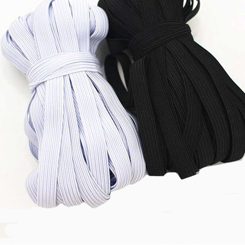 10 meters Woven Flat Knitted Elastic Craft Sewing Elastic Cord Elastic Band Sewing Stretch Rope(China)