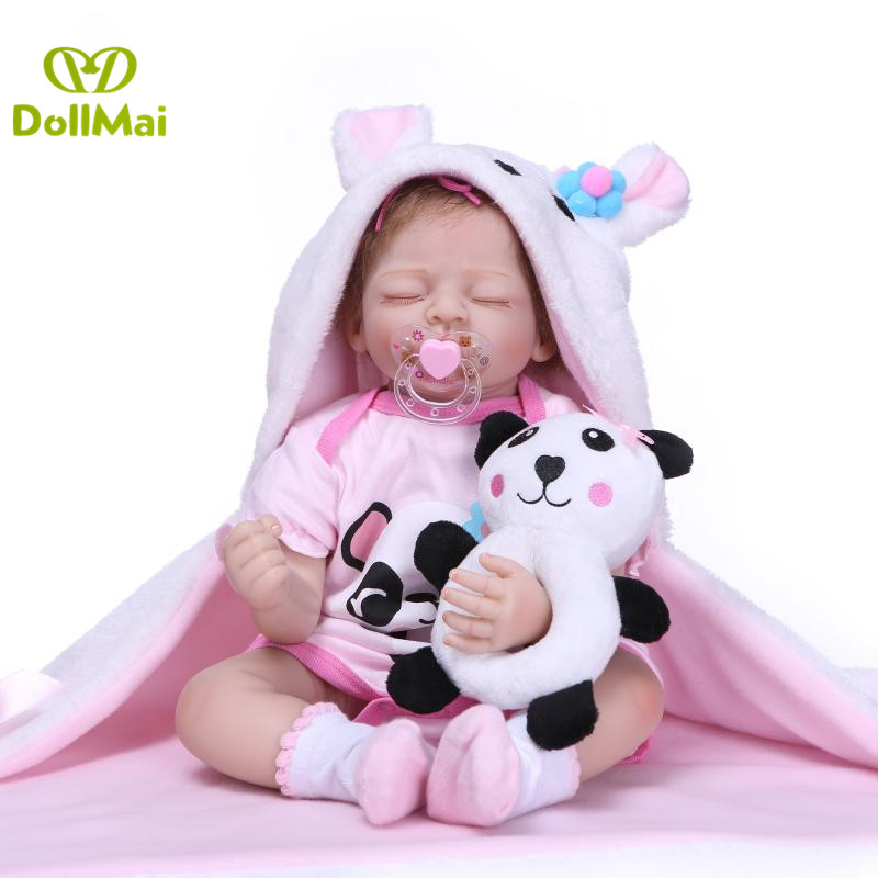 New baby reborn doll 50cm silicone reborn babies dolls real sleeping newborn babies alive doll toys for child  bebes rebornNew baby reborn doll 50cm silicone reborn babies dolls real sleeping newborn babies alive doll toys for child  bebes reborn