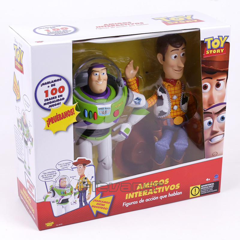 Original Cartoon Movie Woody and Buzz Lightyear Talking Action Figure Collectible Model Toy Gift wisehawk nanoblocks toy story super mario woody buzz bulleye action figure movie cartoon model diy diamond micro building bricks