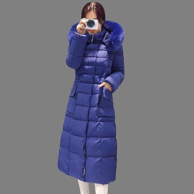 ФОТО Winter Jacket Women 2016 Winter Coat Women Long Parka Fur Cotton-Padded Coats Women Wadded Jackets Plus Size 4 XL AA400