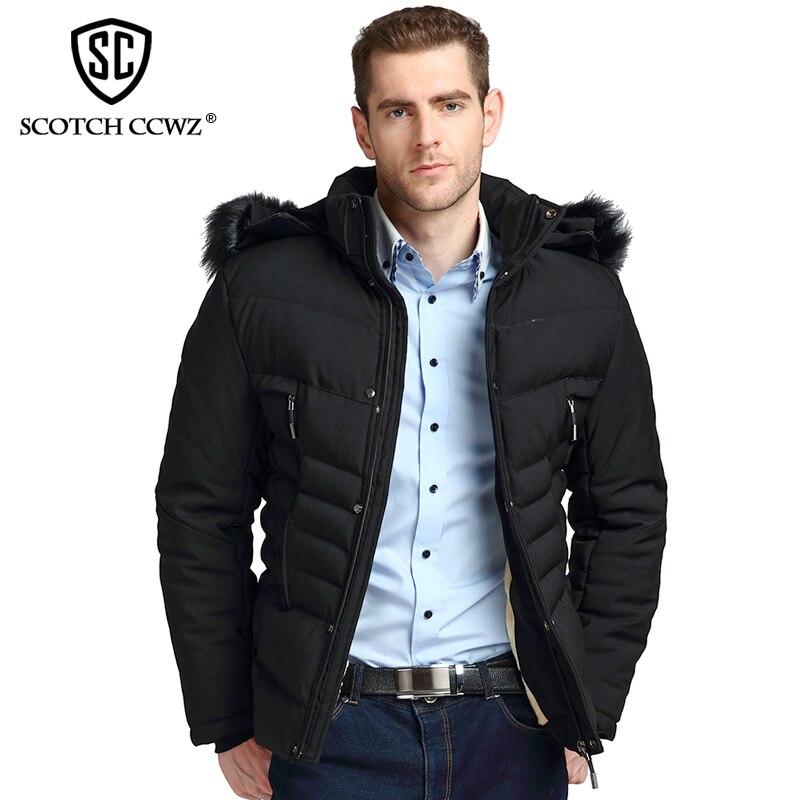 SCOTCH CCWZ Brand RU/EU size Thick Keep Warm Winter Jacket Men Parkas Overcoat 2017 New Fashion Jackets And Coats Clothing 71716 scotch