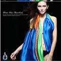 2016 Womens Fashion Scarves Pure Silk Scarf Woman Autumn Winter Long Design Georgette Satin Cape Luxury Brand Shawls and Scarves
