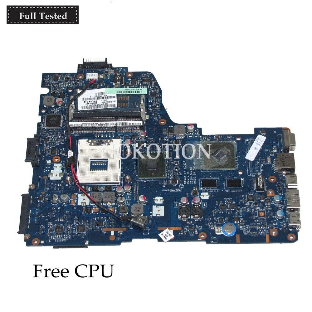 NOKOTION Laptop motherboard for TOSHIBA A660 NWQAA K000104420 LA 6062P REV 2 0 intel HM55 nvidia