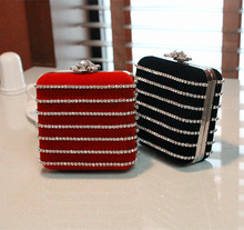 Bling Bling Diamond Bag Evening Clutch Red Black Luxury Rhinestone Wedding Banquet Handbags Chain Bridesmaid Bag