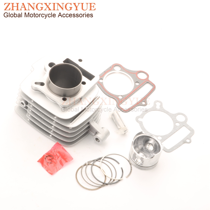 52.4mm cylinder kit & Piston kit & Cylinder gasket for Honda Wave 110 WAVE110 Round oil hole image