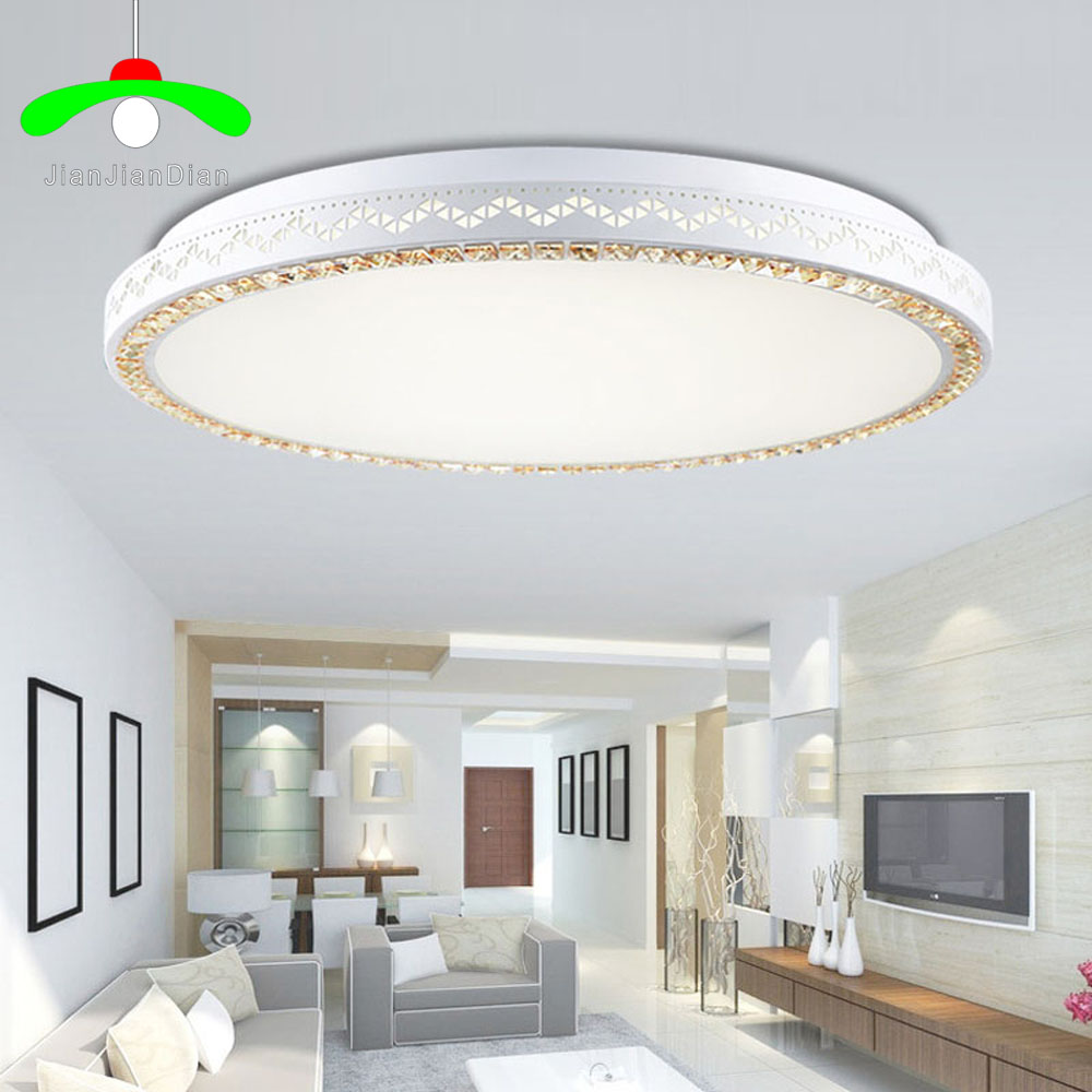 Led ceiling lamp round bedroom lamp crystal lamp living room dining room study room remote control light control creative lamps creative round ceiling led lamp bedroom lamp modern minimalist living room dining lamps