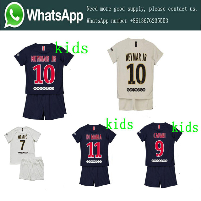 buy online 672e1 13291 US $18.88 |2019 Ligue PSG Home Away kids suit Soccer jersey camisetas  Neimar JR MBAPPE 18/19 child football Clothes Free Shipping-in Soccer  Jerseys ...