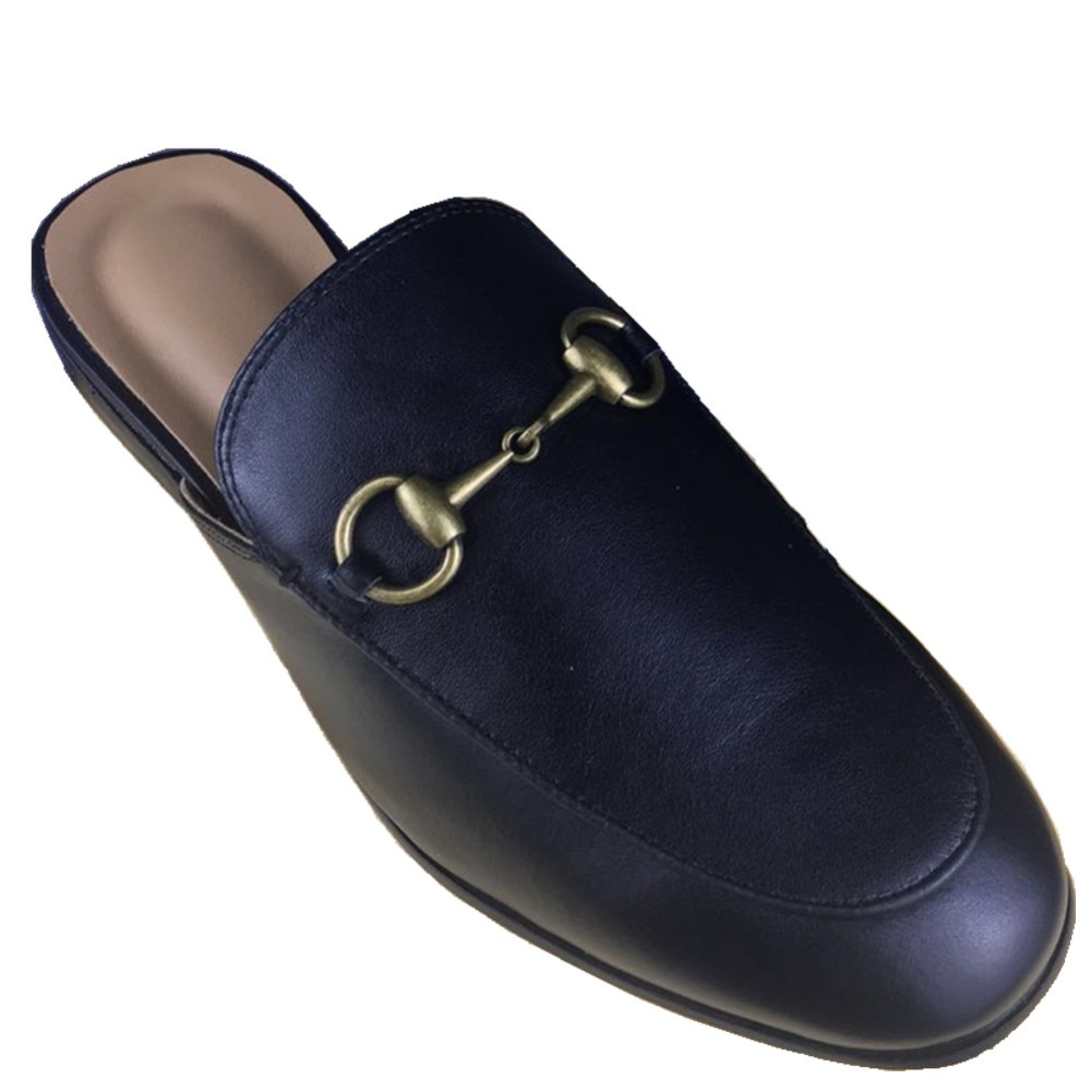 Ciabatte da uomo F.N.JACK Slipper Loafer Flat 100% Leather Mules - Scarpe da uomo