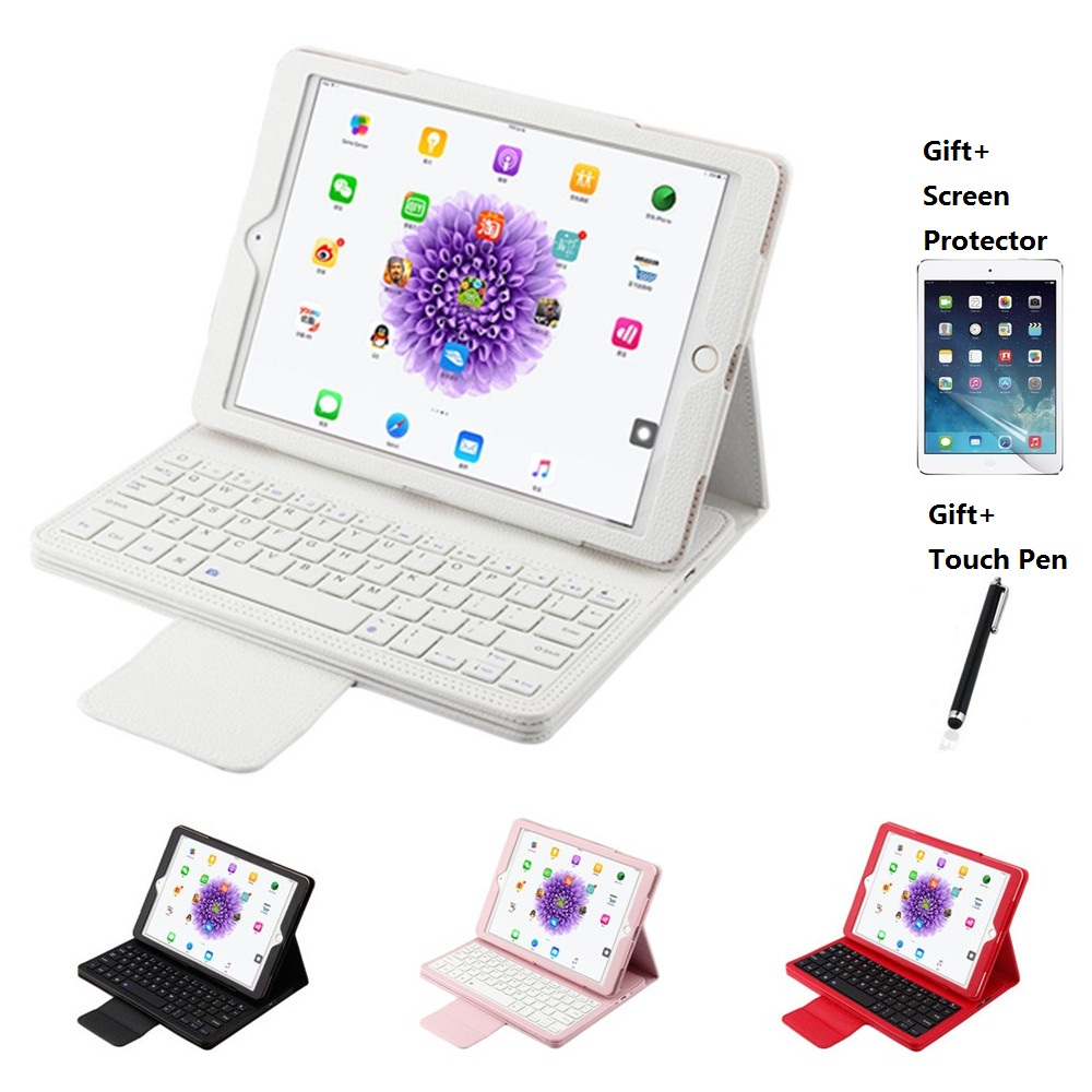 PU Leather Case with Bluetooth Keyboard Cover For iPad Mini 1234 Air 1 2 iPad 2017 2018 9.7 inch Pro 9.7 10.5 11 inch