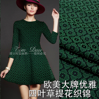 Small fragrant breeze clover jacquard fabric fabric summer spring and autumn winter fashion dress clothing