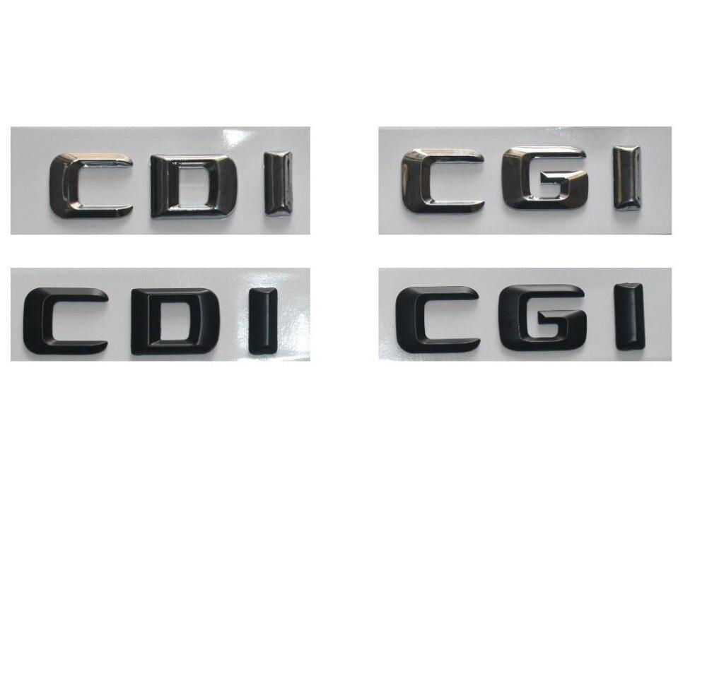 Us 815 49 Offchromschwarz Kunststoff Cdi Cgi Auto Kofferraum Hinten Seiten 3d Buchstaben Emblem Embelms Abzeichen Brief Aufkleber Für Mercedes
