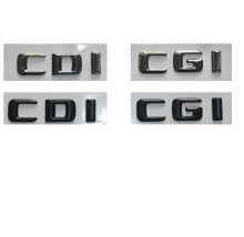 Chrome / Black Plastic CDI CGI Car Trunk Rear Sides 3D Letters Emblem Embelms Badge Badges Letter Sticker for Mercedes Benz AMG
