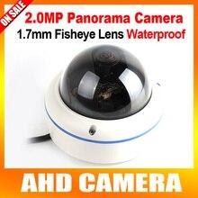 Panorámica HD AHD Cámara de 2MP 1080 P Cámara Domo CCTV, Lente de ojo de Pez de 360 Grados de Vista de Metal CCTV Cámara de Vivienda al aire libre