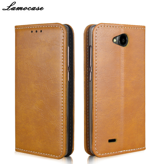 "Lamocase Brand For ZTE Blade GF3 Case Leather Wallet Cover For ZTE Blade GF3/GF 3 T320 4.5"" Flip Protective Bags"