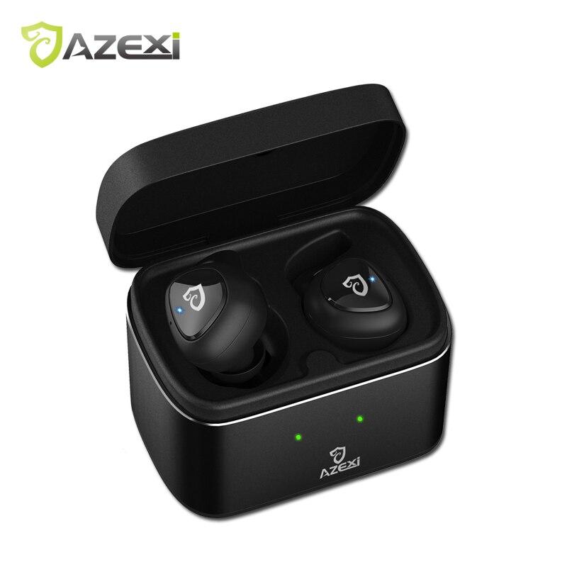 Azexi Air60 Wireless Bluetooth Cuffie In-Ear Subwoofer Stereo Auricolari Sport Cuffie con Microfono per Telefoni cellulari