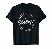 Billie Eilish When We All Fall Asleep Where Do Go? Black T-Shirt For Fans Short Sleeve Men T shirt Tops Summer