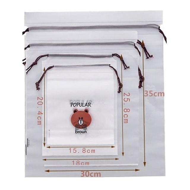Brown Bear Transparent Cosmetic Bag Travel Makeup Case Women Zipper Make Up Bath Organizer Storage Pouch Toiletry Wash Beaut Kit 2