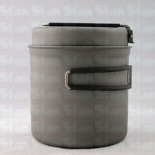 Pure Titanium Jacketed kettle Pot Mug Pan Cup Bowl Boiler for Out door Picnic Camping  1100+280ml 182g