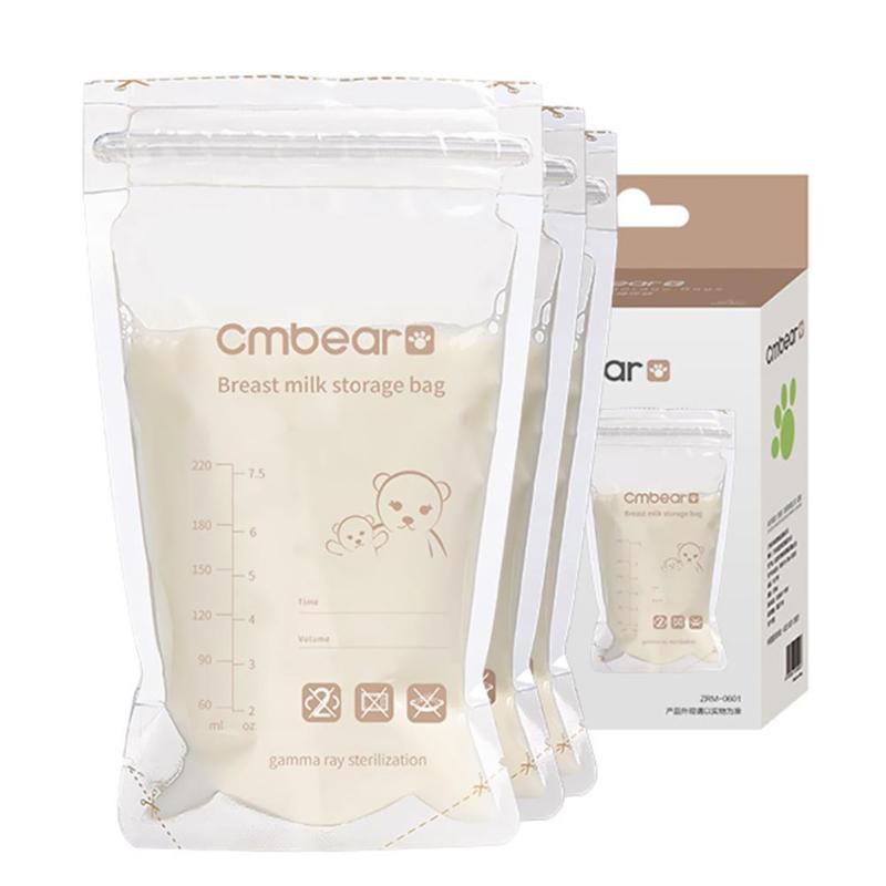 30/50pcs 220ml Breast Milk Storage Disposable Baby Food Fresh Sealed Bag Safety Postnatal Supplies Breast Milk Storage Practical