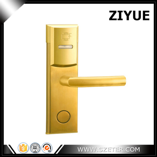 125khz rfid card ANSI Intelligent RFID Hotel Swipe Card Digital Cylinder Card Reader Door Lock ET106RF digital electric best rfid hotel electronic door lock for flat apartment