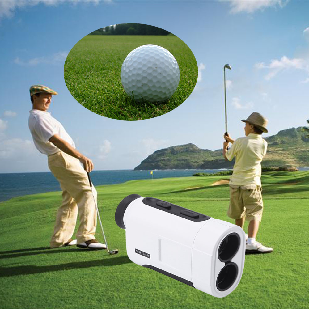 600M distance laser range finder used in the golf course Meter Monocular Telescope Laser Range finder Golf Rangefinder Golf Hunt simulation mini golf course display toy set with golf club ball flag