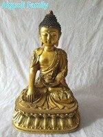 Super Big Buddha Sculpture!!!Asian Antique Art Collection Crafts,Chinese Old Brass Buddha Statue With Da Ming Mark