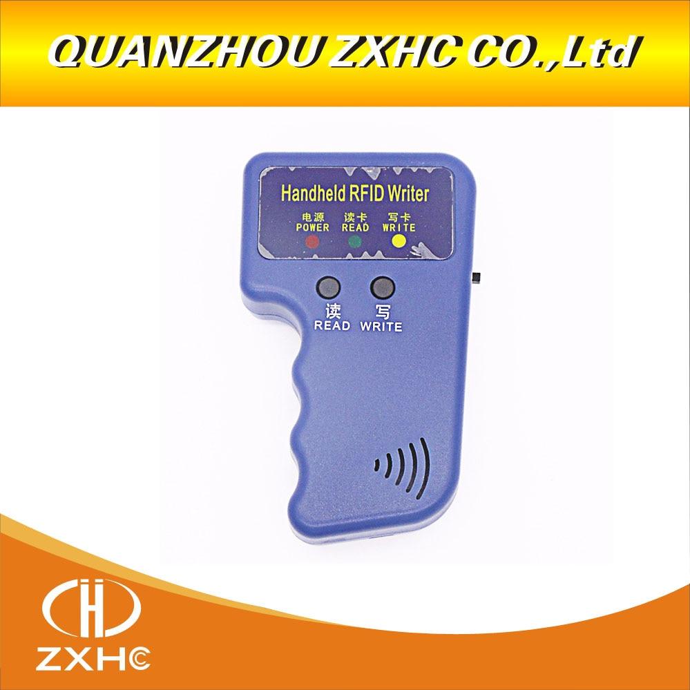 Håndholdt 125 kHz kopimaskine RFID Smart ID-kort duplikator bruges til T5577 eller EM4305