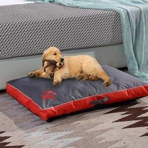 Image 3 - Łóżka dla psów duże psy domowa Sofa hodowla kwadratowa poduszka Husky Labrador Teddy duże psy dom dla kotów łóżka maty