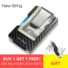 New Carbon Fiber RFID Wallet Blocking Credit Card For Men
