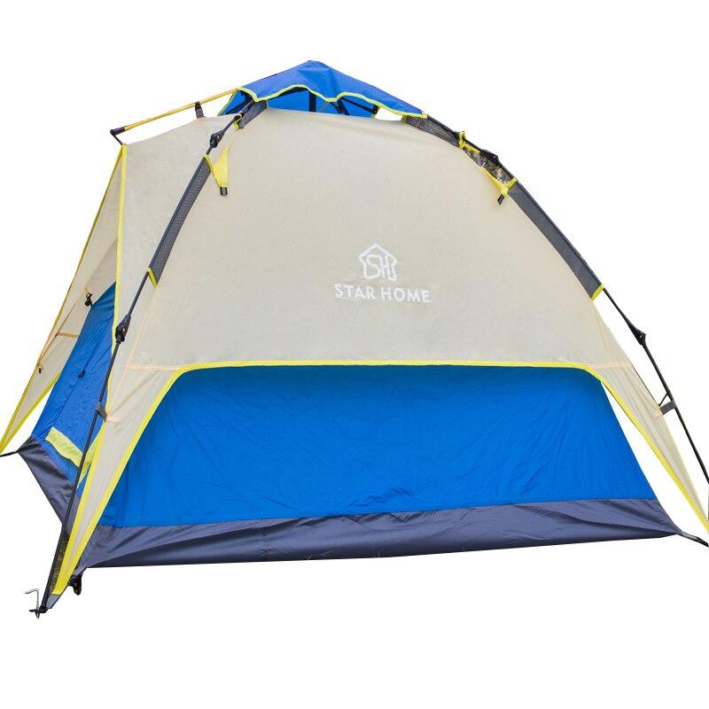 Automatique tentes de camping couche double Famille Tentes Instant Ouvert Étanche 3 Saison Tentes
