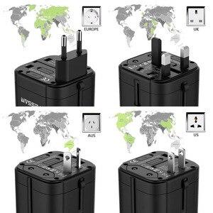 Image 2 - Tessan Du Lịch Đa Năng Điện Quốc Tế Cắm Sạc 3 Cổng USB Cho US/EU/AU/Vương Quốc Anh/FR/Ý Ổ Cắm Điện Cắm