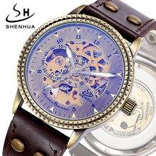 SHENHUA Transparent montres Bronze