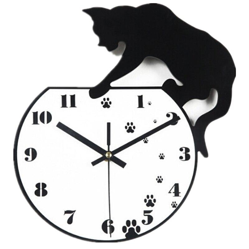 2017 new quartz watch wall clock acrylic mirror 3d diy stickers living room europe reloj de - Decorative Wall Clock