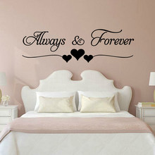 Romantic Love always forever INS Wall Stickers For house Bedroom Living Room Decoration Wall Decals Decor wallsticker Mural(China)
